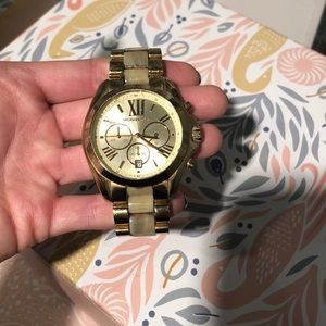 Gold and ivory Michael Kors watch
